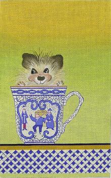 """ZE454 Zecca Porcupine in a Tea Cup 11"""" x 7.5""""  18 Mesh"""