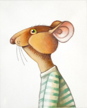 "ZELR107 Mouse in Shirt 8.5"" x 10.5"" 18 Mesh Linnea Riley Zecca"