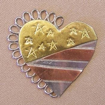 AMERICANA HEART NEEDLE NANNY Puffin And Company 05-60