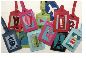 7756fb91d68e PLANET EARTH Blue SELF-FINISHING LUGGAGE TAG Canvas Not Included 2