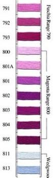 Needlepoint Inc. Silk Skein #800 Magenta Range