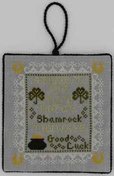 Tiny Shamrock Sampler  73w x 83h Misty Hill Studio 18-1134