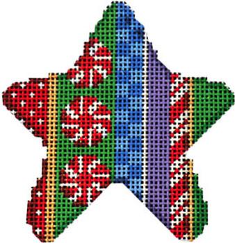 CT-2033 Peppermint Stripe Mini Star Mini Star 3 x 3 18 Mesh Associated Talents