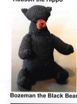 KT-Swatch Pattern-BB Critter Bozeman Black Bear DJE HandWovens Zoom Loom Pattern