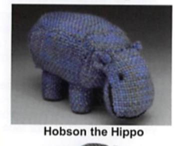 KT-Swatch Pattern-H Critter Hobson Hippo DJE HandWovens Zoom Loom Pattern