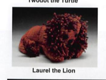 KT-Swatch Pattern-L Critter Laurel Lion DJE HandWovens Zoom Loom Pattern
