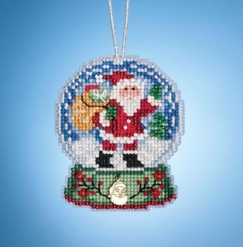 Tear Drop Shape Indigo  XS Size Glass Ornament 2 X 6 pcs