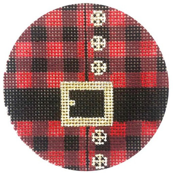 APX378 Alice Peterson Designs SANTA'S PLAID SHIRT 13 Mesh 4x 4