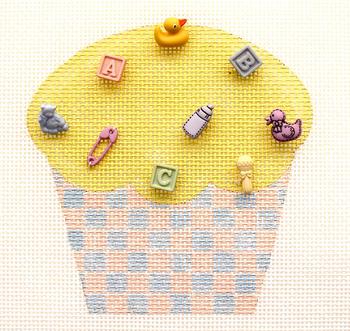 HB-265 Cupcake Baby 4 x 3 3⁄4  18 Mesh Hummingbird Designs