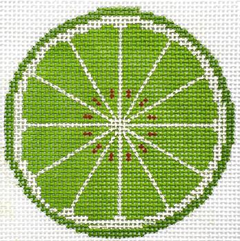 "HB-514 Lime Coaster/Ornament 4"" Round 13 Mesh Hummingbird Designs"