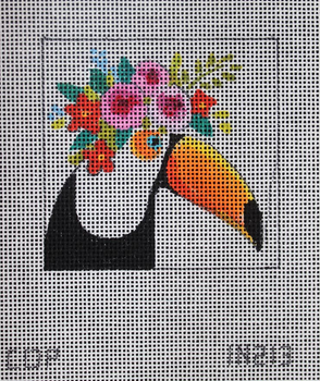 IN213 tucan w floral crow  3x3 18M Colors of Praise