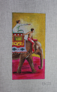 EY213 Couple on elephant Single eyeglass case 3.5x7 18 Mesh Colors of Praise