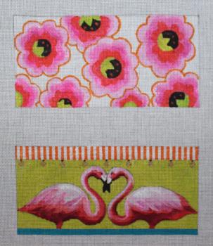 EY223 Flamingo/floral Double eyeglass case 18 Mesh Colors of Praise
