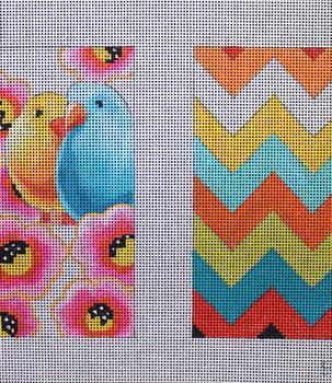EY226 Lovebirds Double eyeglass case 13 Mesh Colors of Praise