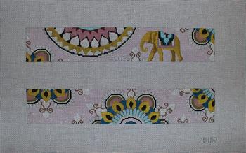 PB102 Vintage elephant w. pattern 2 panels 14x2.5 13 Mesh Colors of Praise