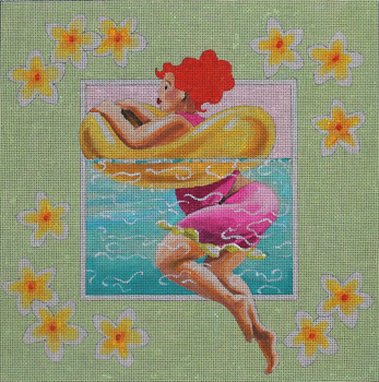 PE240 redhead w yellow float 11x11 18 Mesh Colors of Praise