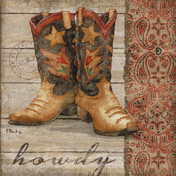 PB13838 - Wild West Boots II 12x12, 18M Paul Brent The Collection Designs