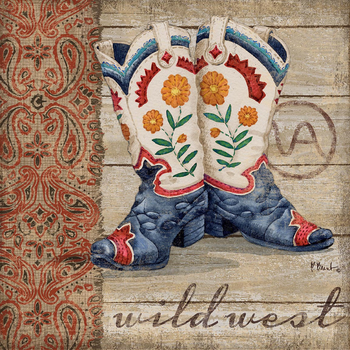 PB13840 - Wild West Boots IV 12x12, 18M Paul Brent The Collection Designs