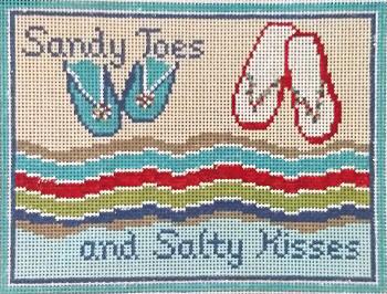 """#93 Sandy Toes 18 Mesh  -  6"""" x 4-1/2""""  Needle Crossings"""