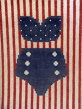 XO-322Navy w/Polka Dots & Buttons5 x 4 ish  Mesh  The Point Of It All