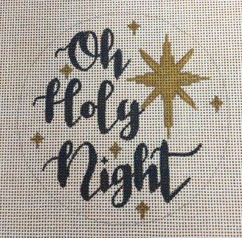 """APCH09 Oh holy night 18 mesh 4.5"""" round A Poore Girl Paints"""