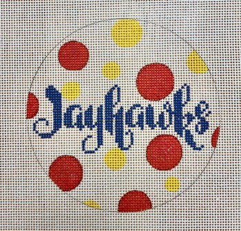 """APCO34 Jayhawks 18 mesh 4.5"""" round A Poore Girl Paints"""