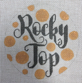 """APCO26 Rocky Top 18 mesh 4.5"""" round University Of Tennessee A Poore Girl Paints"""