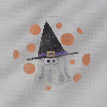"""APHA05 Ghost in a Hat 18 mesh 4.5"""" round A Poore Girl Paints"""