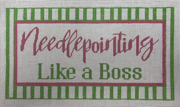 APLS17 Needlepointing like a boss 18 mesh 11 x 6  A Poore Girl Paints