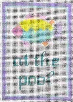 """11A At the Pool Sign - FIsh 61⁄2"""" x 41⁄2"""" #13 mesh STITCH-ITs"""