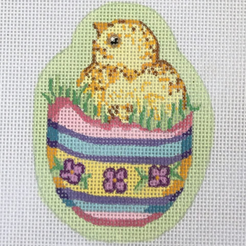 ESO-14 Alexa Designs 18 Mesh Easter Shaped Ornament Chick In Basket