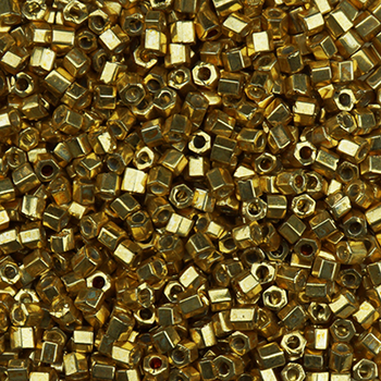 BDS-H471 Size 11 Galvanized Gold Hex Beads Sundance Designs