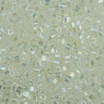 #BDS-H250 Size 11 Crystal Opal Hex Beads Sundance Designs