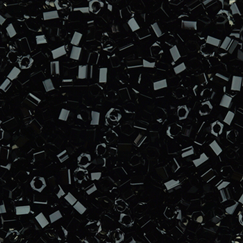 #BDS-H401 Size 11 Black Hex Beads Sundance Designs