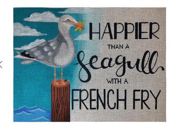 "ME17 Happier than a Seagull18 Mesh 14"" x 10""  Madeleine Elizabeth"