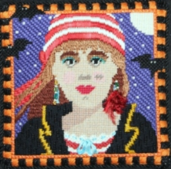 816 Pirate Girl  5 x 5  18 Mesh DESIGNS by Florence Schiavo
