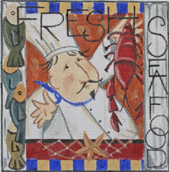 KL1251 CHEF: FRESH SEA FOOD 8 x 8.25 13 Mesh KAMALA