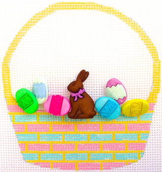 HB-286 Chocolate Bunny Basket 31⁄2x4 18 Mesh Hummingbird Designs