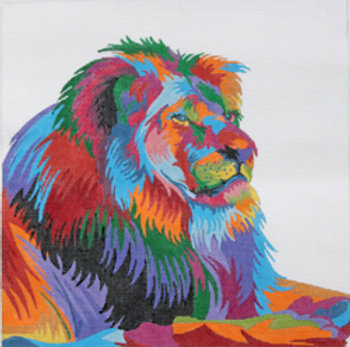PDW413 WILDLIFE GALLERY:  SIMBA THE LION 10 X 10 18 Mesh PRINCE DUNCAN WILLIAMS