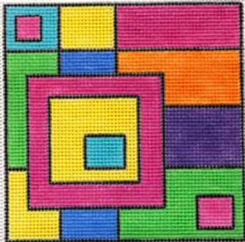 Ludw8053 Squares within Squares 5 X 5 18 Mesh LAURIE LUDWIN