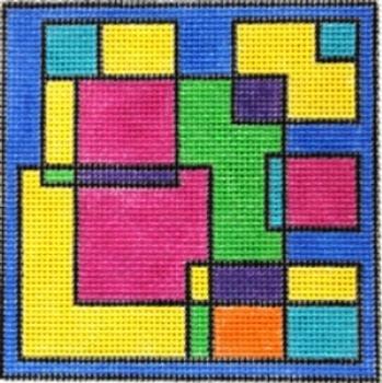 Ludw8054 Random Squares 5 X 5 18 Mesh LAURIE LUDWIN