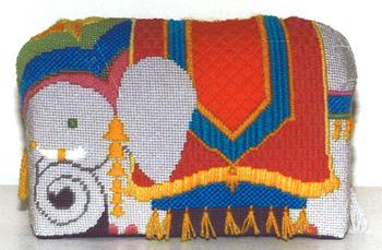 602 Elephant Brick *13 Mesh Jane Nichols Needlepoint Shown Finished