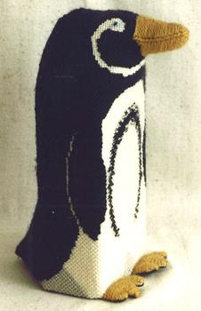 606 Penguin Brick 13 Mesh Jane Nichols Needlepoint Shown Finished