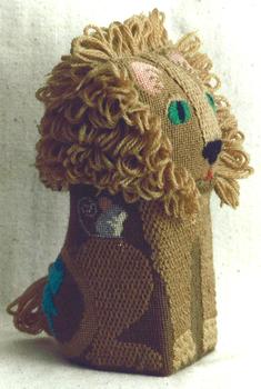 607 Lion Brick* 13 Mesh Jane Nichols Needlepoint Shown Finished