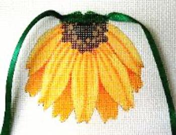 1618 Brown Eyed Susan 5 x 5 13 Mesh Flower Apron Jane Nichols Needlepoint