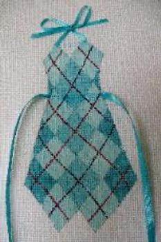 1644 Argyle 5 x 7 13 Mesh Bib Apron Jane Nichols Needlepoint