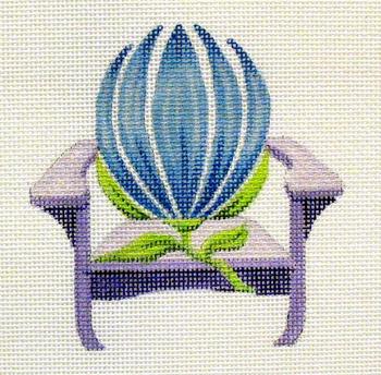 717Hyacinth Adirondack 5 x5 18 Mesh Flower  Chair Jane Nichols Needlepoint
