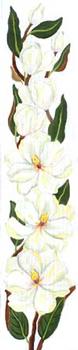 133221 Magnolia Bell Pull 8 x 40 18 Mesh JULIE THOMPSON
