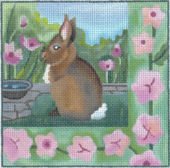 182151 Garden I Bunny 5 x 5 13 Mesh JULIE THOMPSON