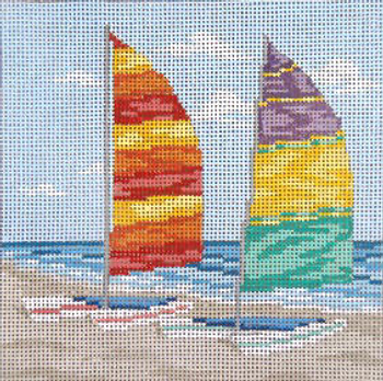 """#701-13 Beached Cats 13 Mesh - 7"""" Square Needle Crossings"""